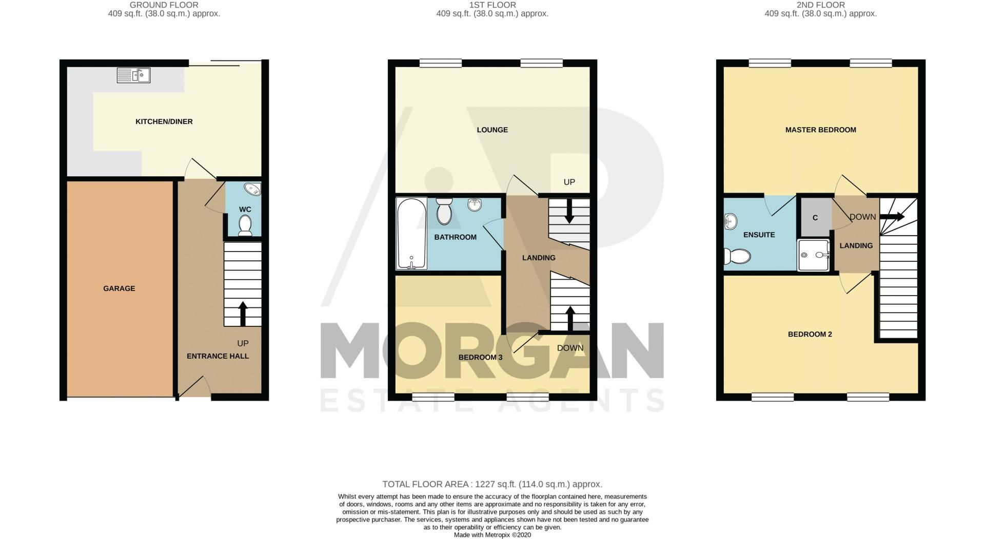 3 bed house for sale in Bickon Drive - Property Floorplan