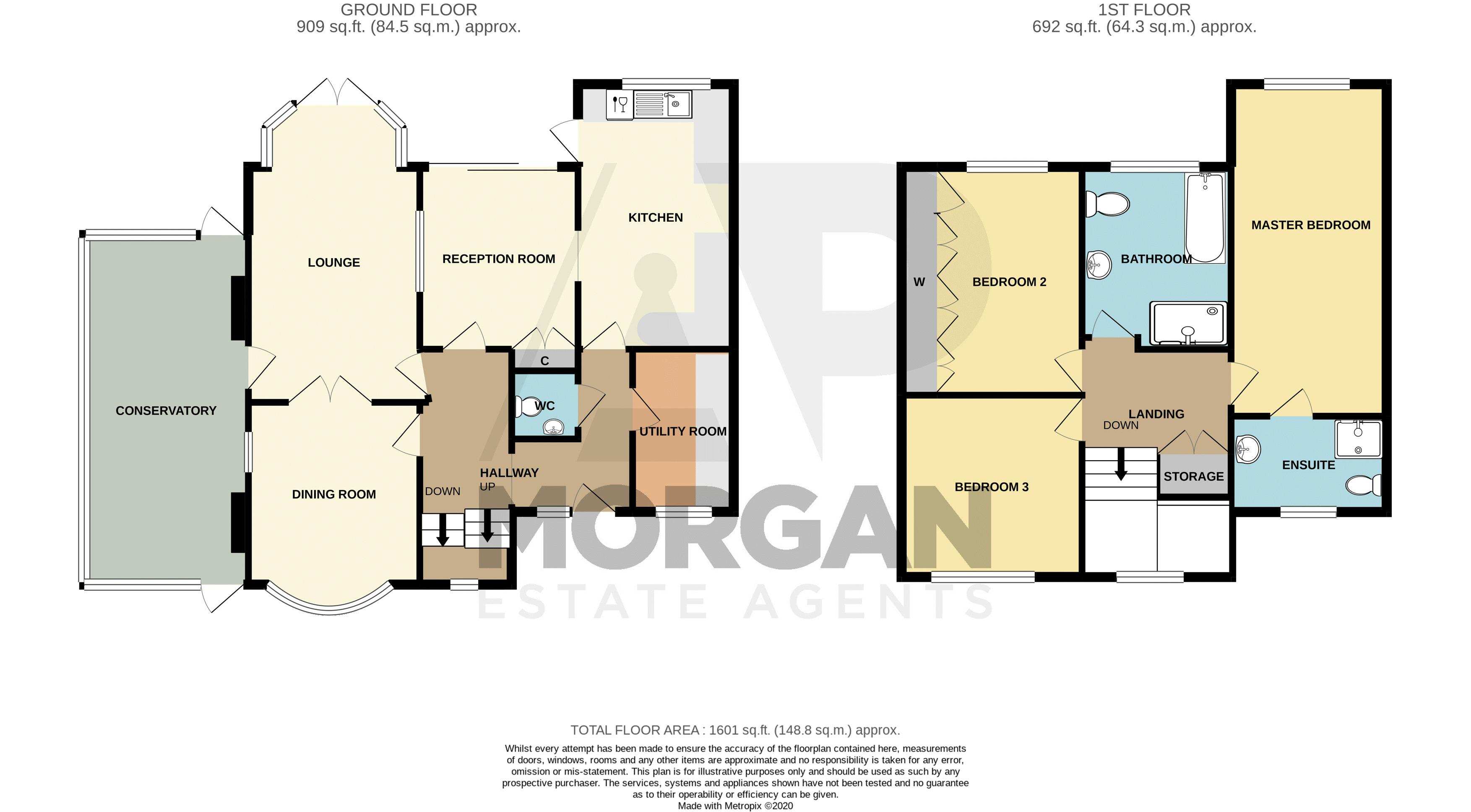 3 bed house for sale in St. Kenelms Road - Property Floorplan