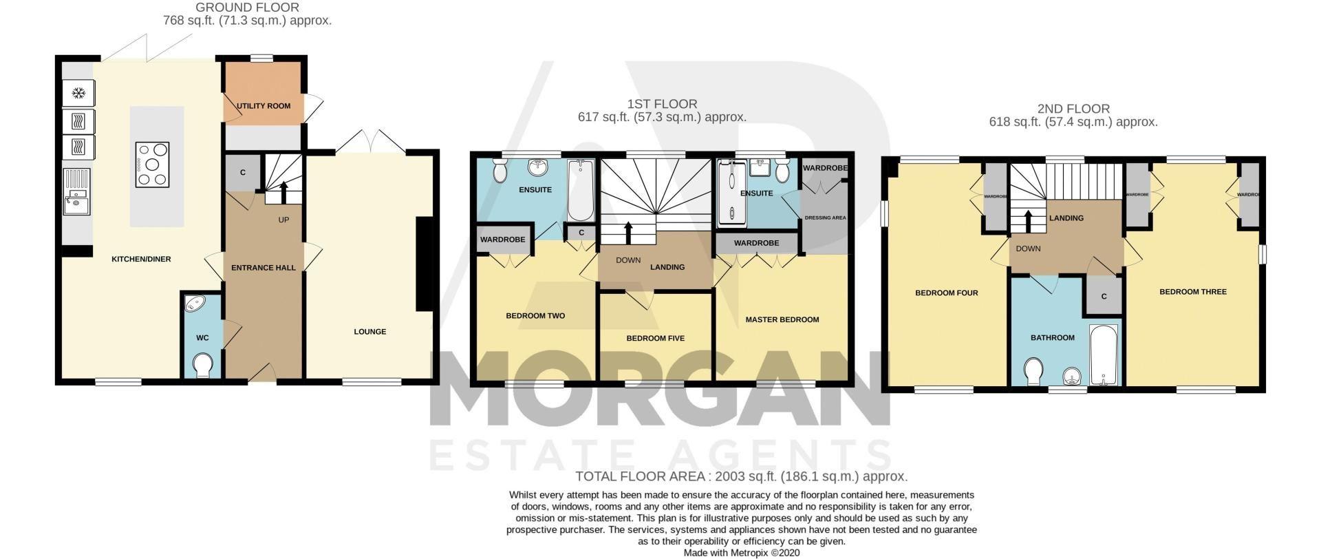 4 bed house for sale in Railway Walk - Property Floorplan