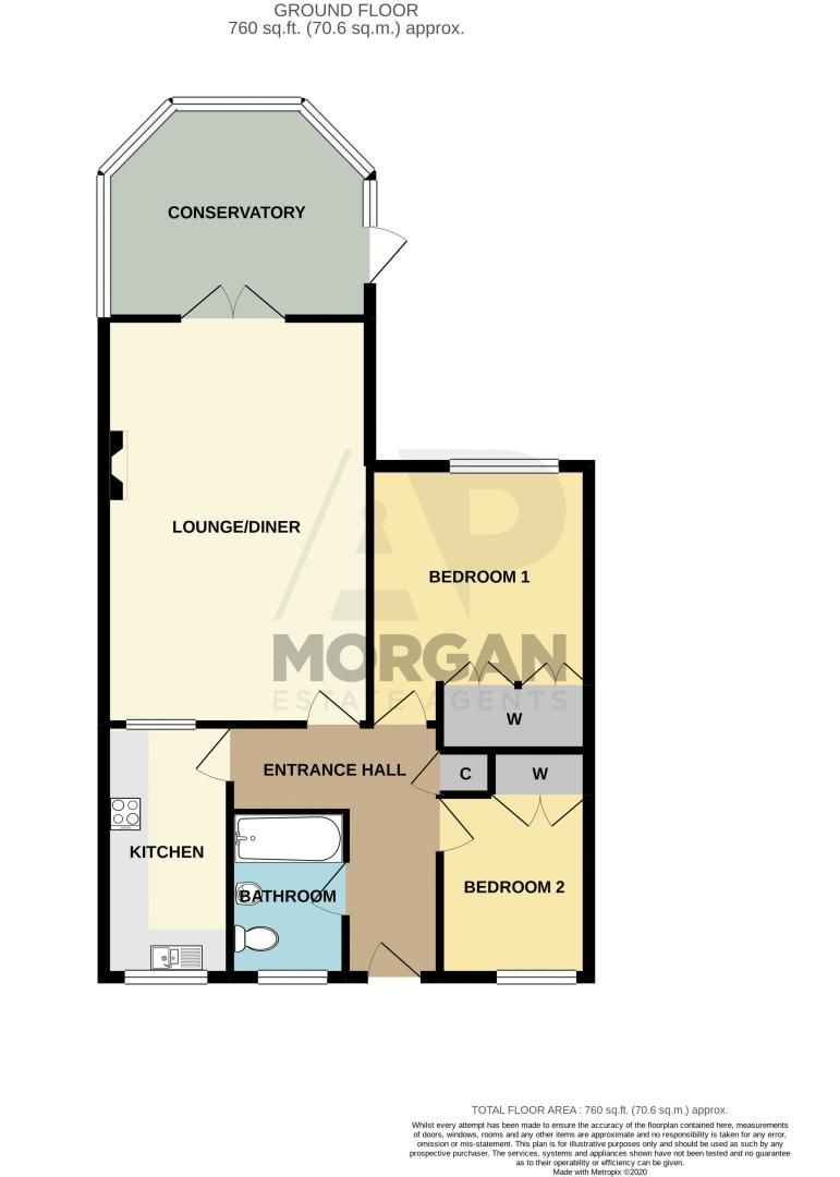 2 bed bungalow for sale in Lords Lane - Property Floorplan