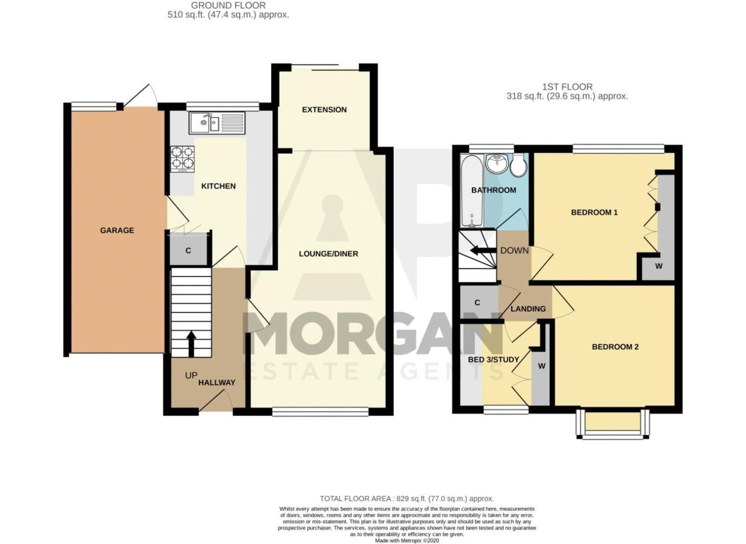 3 bed house for sale in Redstone Close - Property Floorplan
