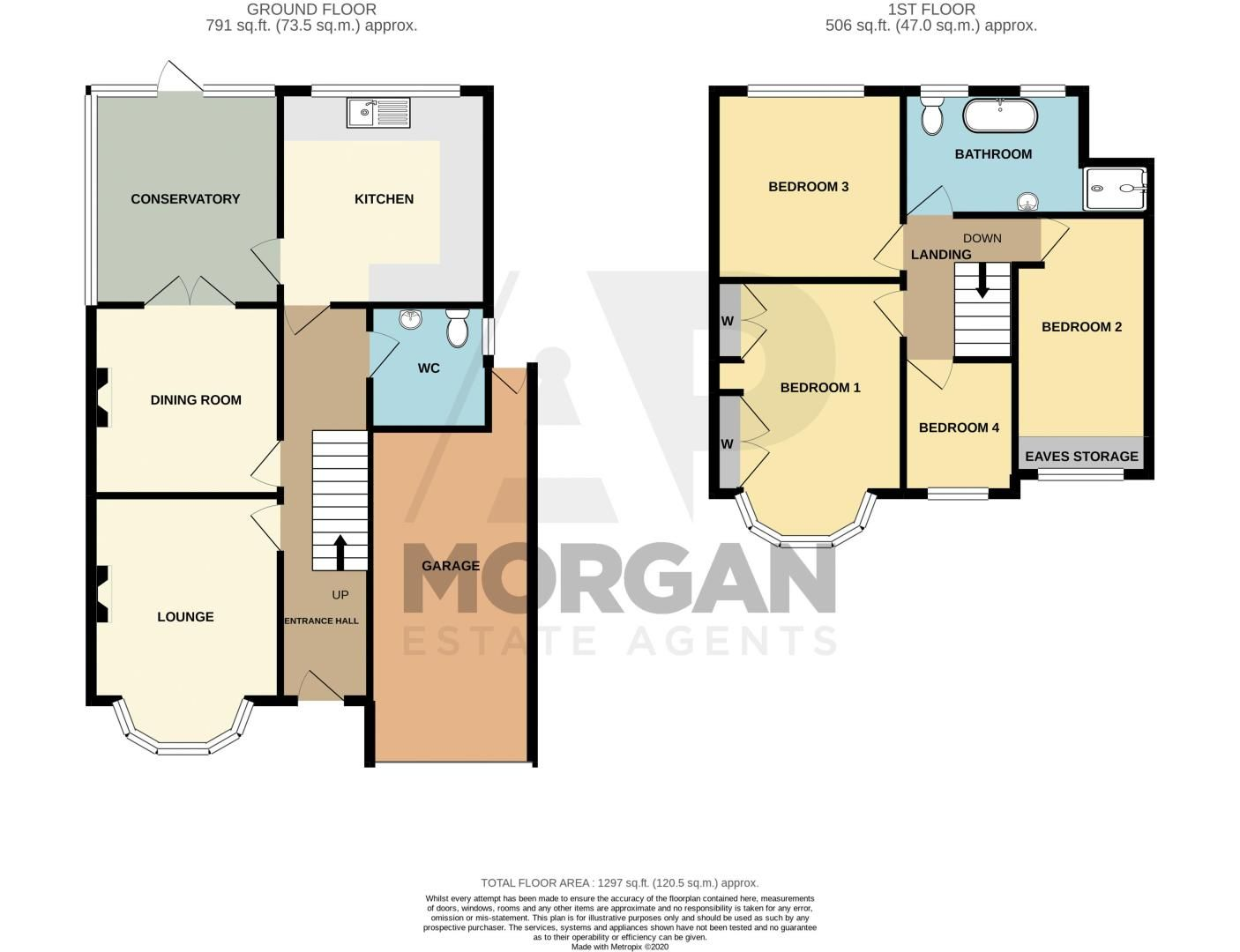 4 bed house for sale in Parkfield Road - Property Floorplan