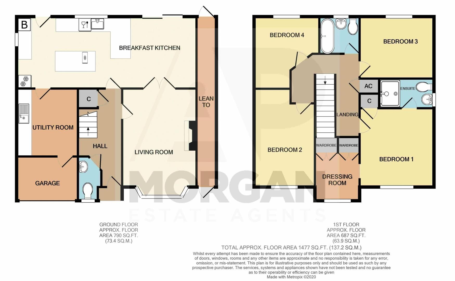 4 bed house for sale in Foxholes Lane - Property Floorplan