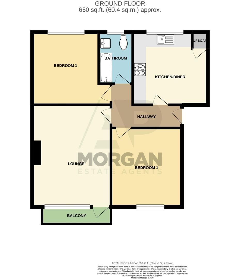 2 bed flat for sale in Malvern Avenue - Property Floorplan