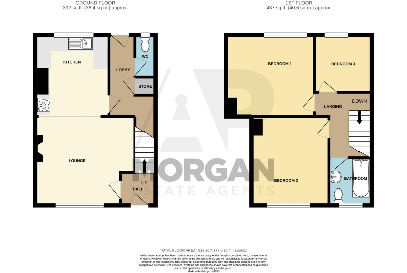 3 bed house for sale in Highfield Crescent - Property Floorplan