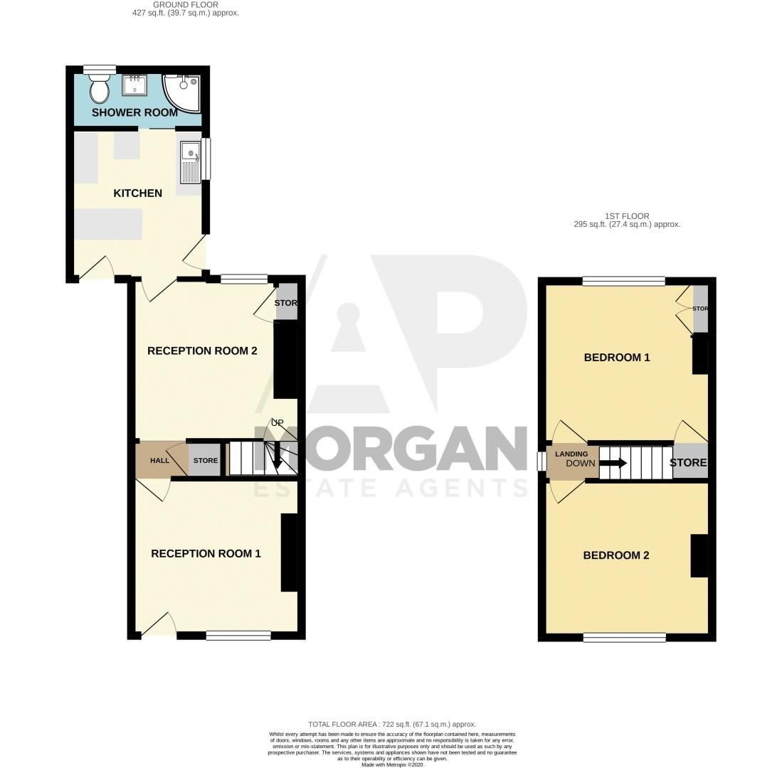 2 bed house for sale in Victoria Street - Property Floorplan