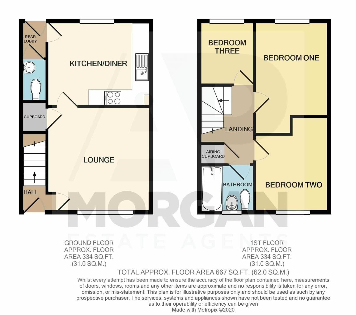 3 bed house for sale in Harris Close - Property Floorplan