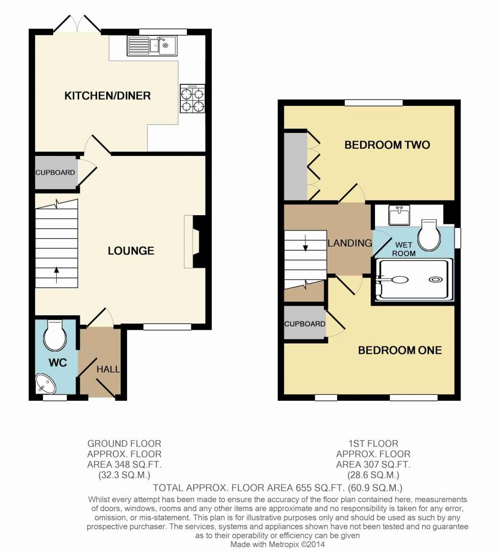 2 bed house for sale in Wheatcroft Close - Property Floorplan