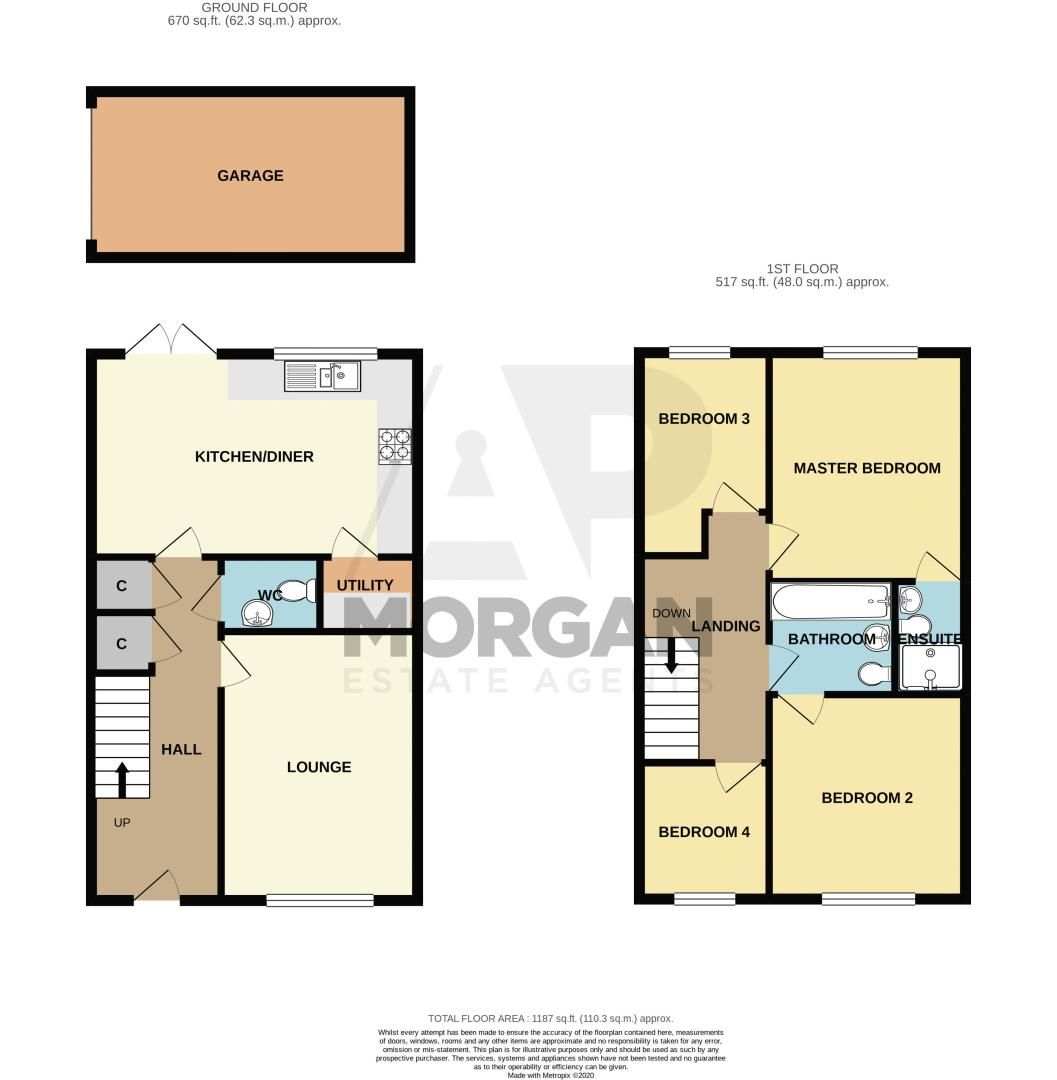 4 bed house for sale in Hatton Close - Property Floorplan