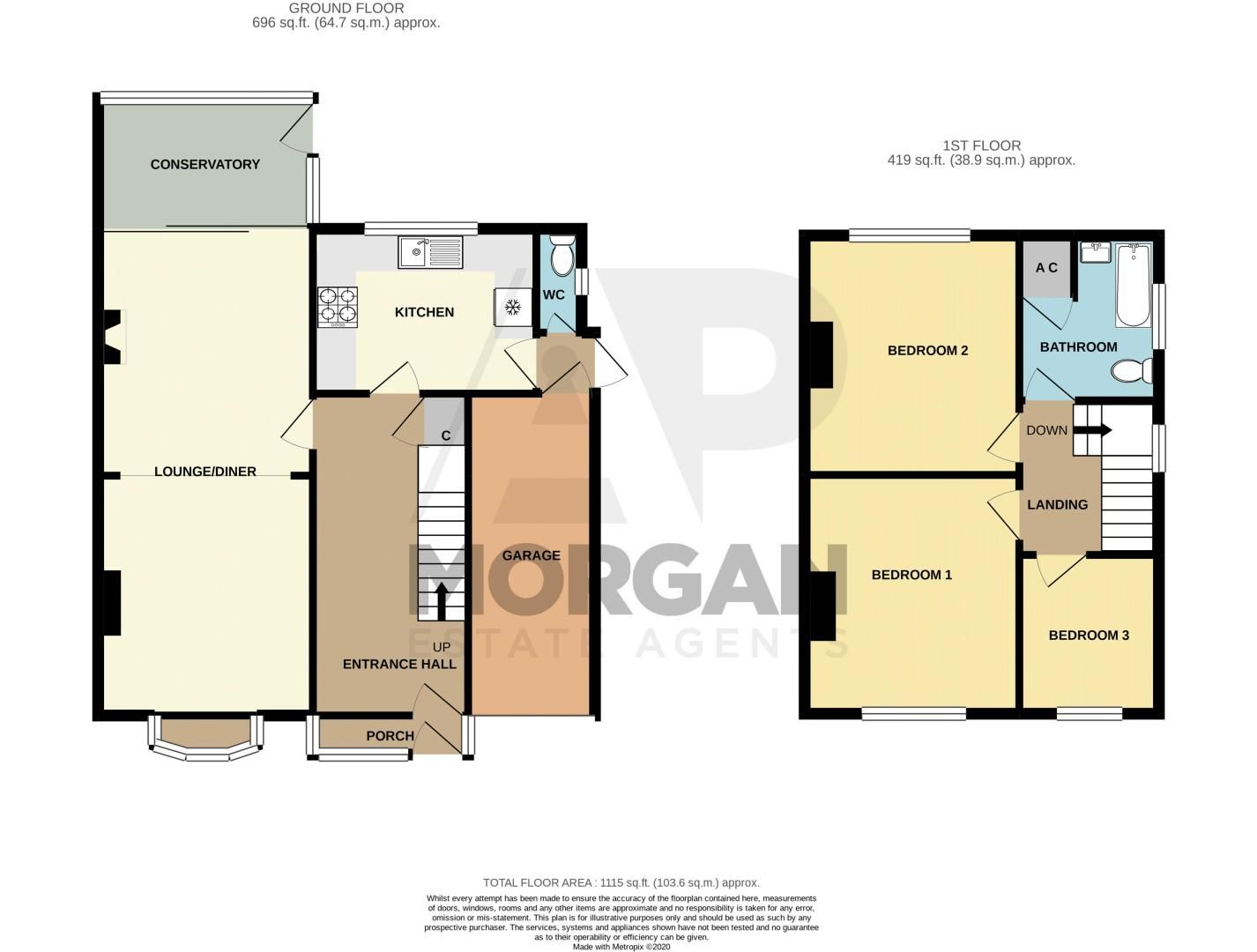 3 bed house for sale in Brueton Drive - Property Floorplan