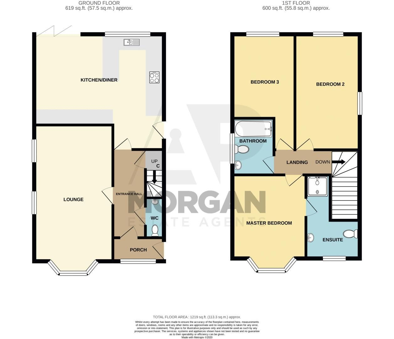 3 bed house for sale in Hagley Road - Property Floorplan