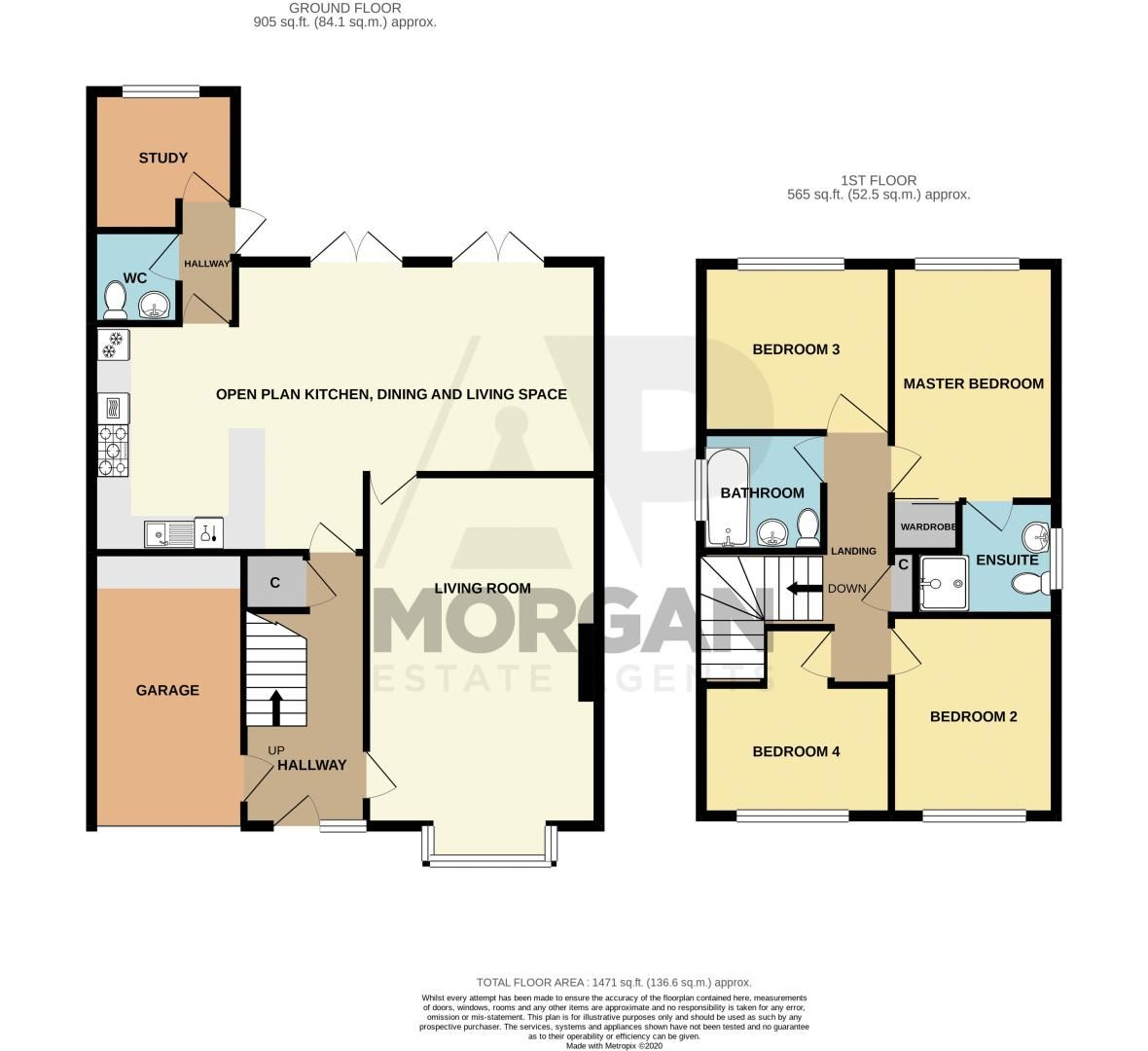 4 bed house for sale in Meadowvale Road - Property Floorplan