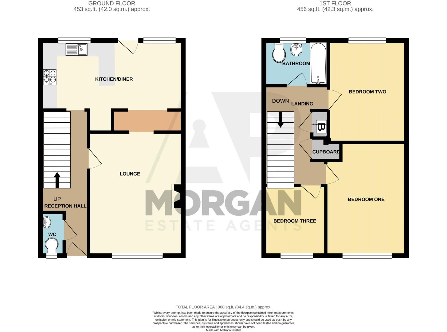 3 bed house for sale in Edgeworth Close - Property Floorplan