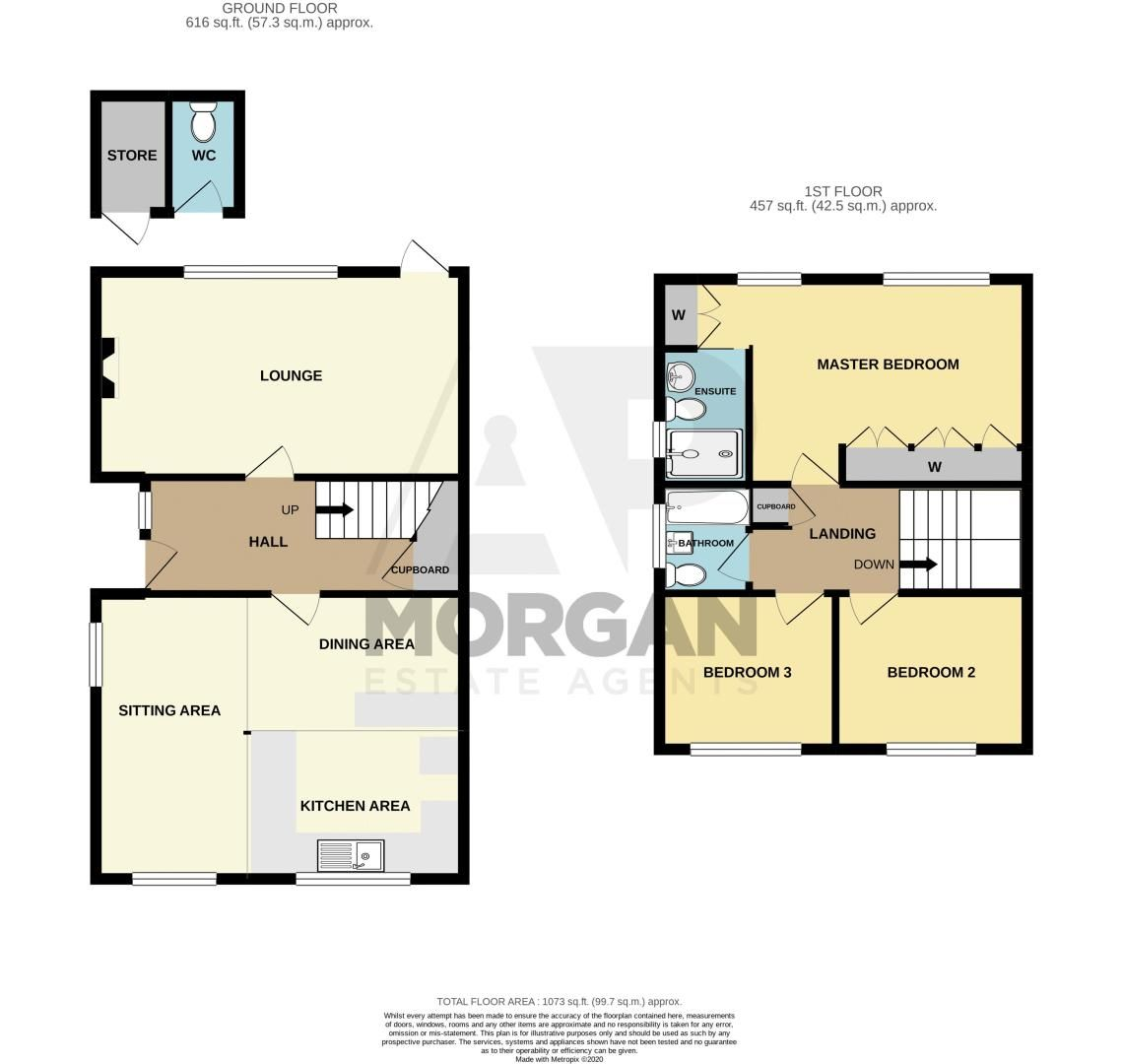 3 bed house for sale in Marlborough Drive - Property Floorplan