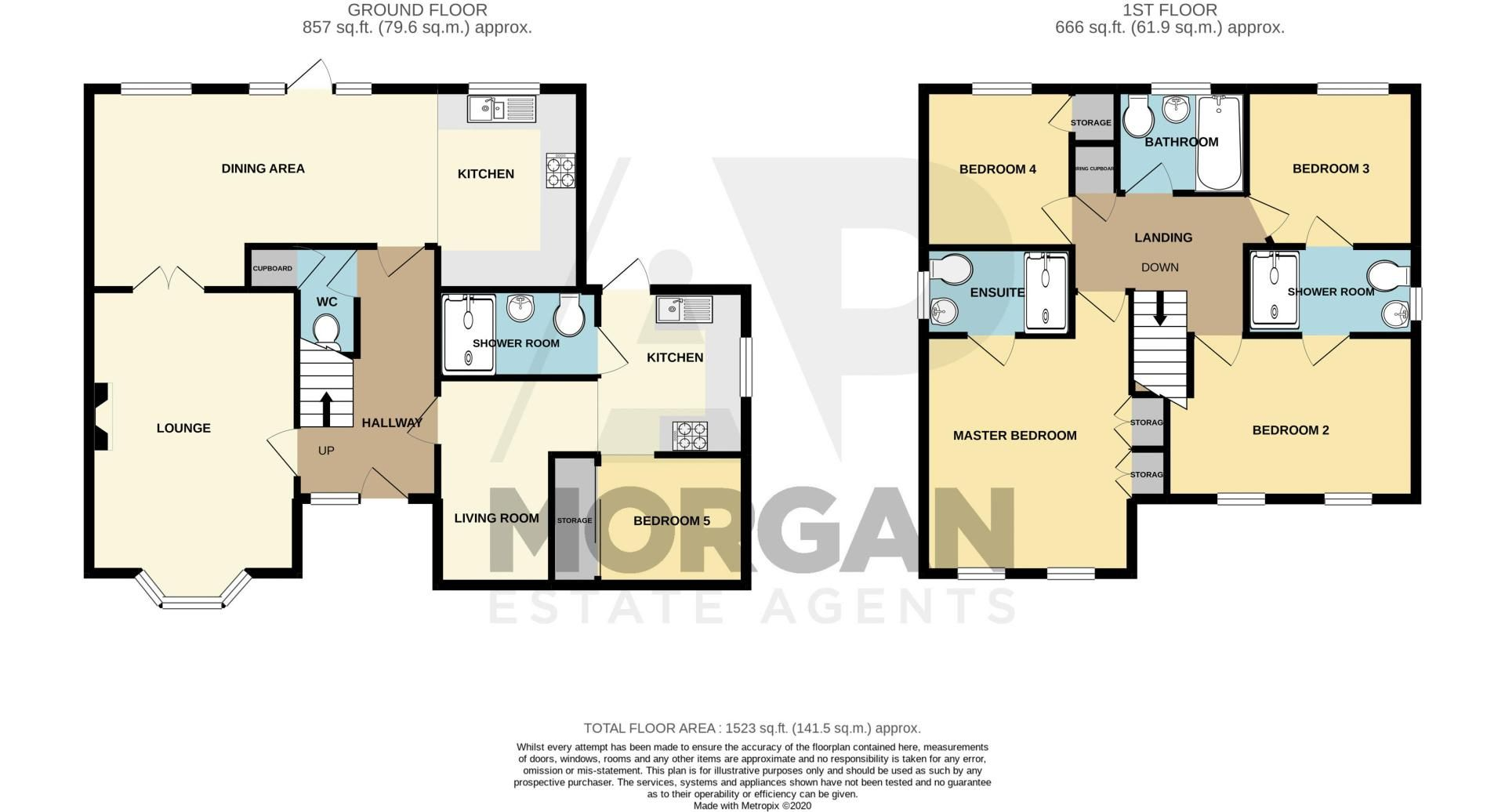 5 bed house for sale in Carthorse Lane - Property Floorplan