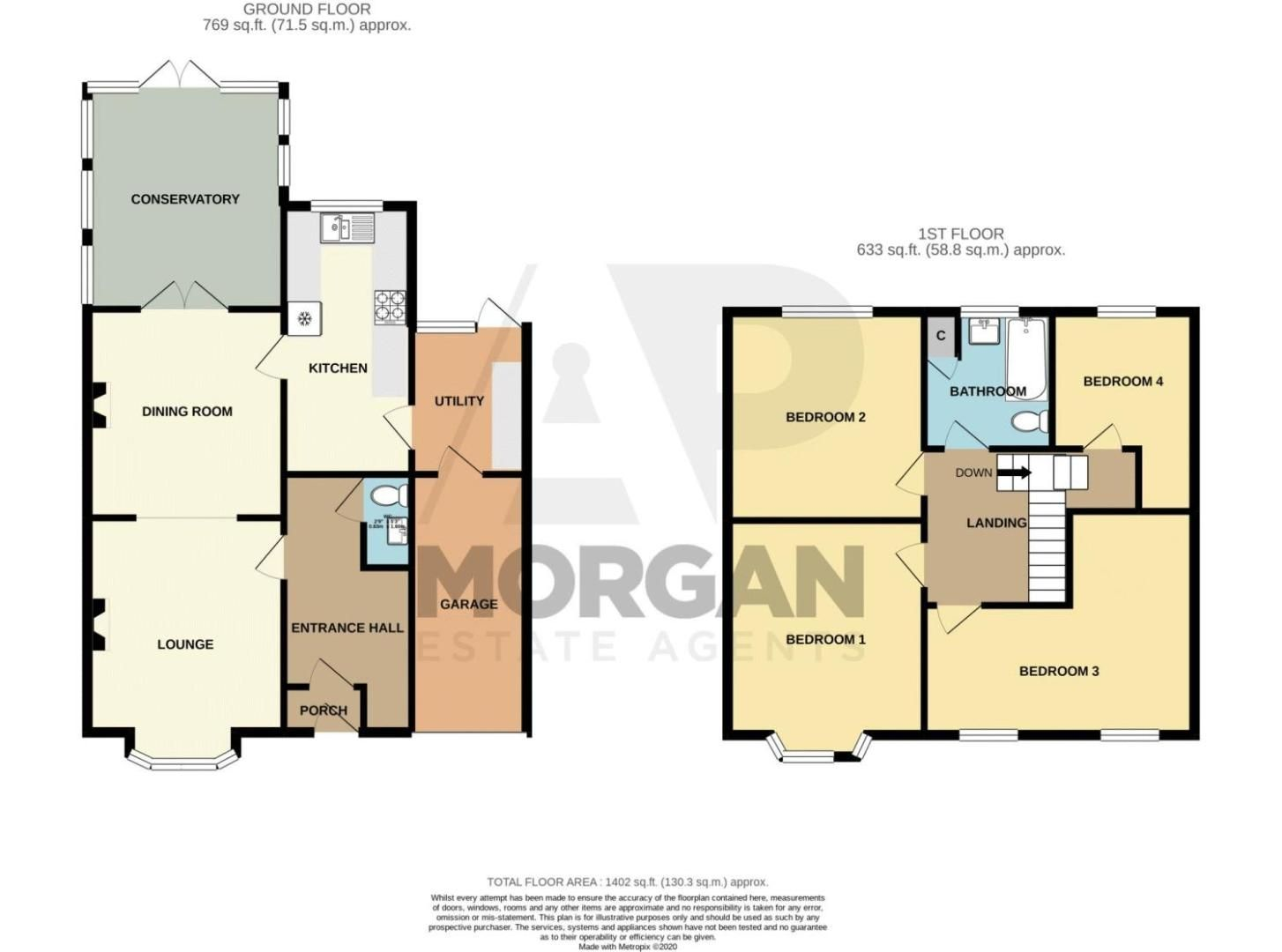 4 bed house for sale in The Meadway - Property Floorplan