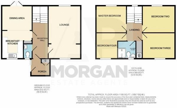 4 bed house for sale in Northleach Close - Property Floorplan