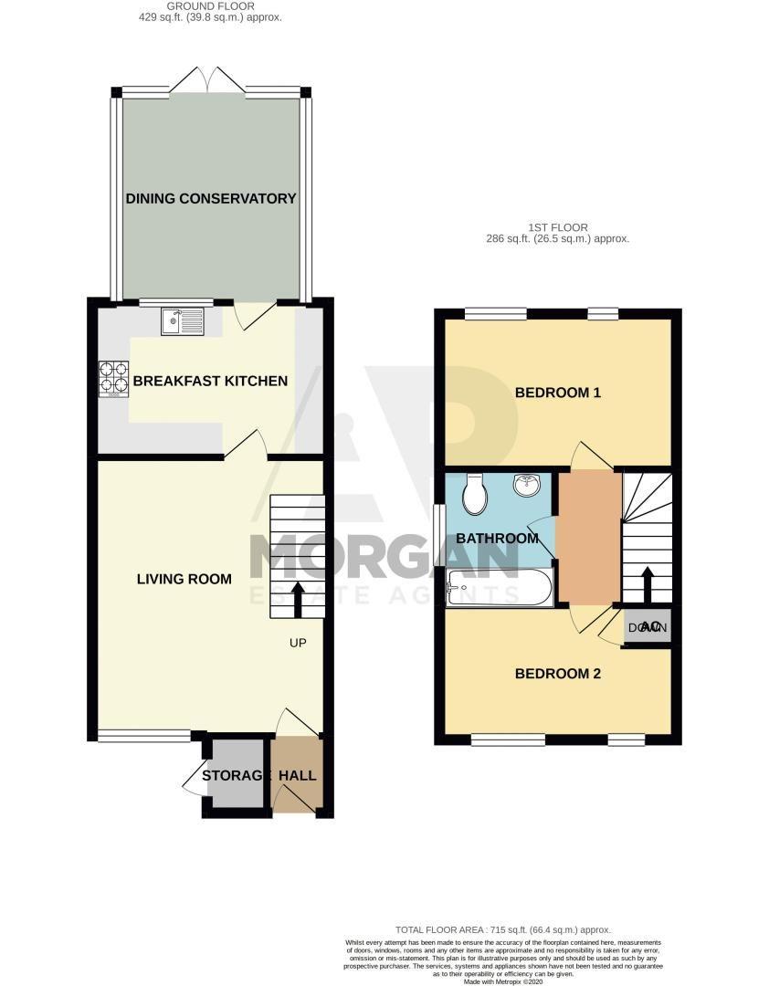 2 bed house for sale in Bracken Park Gardens - Property Floorplan