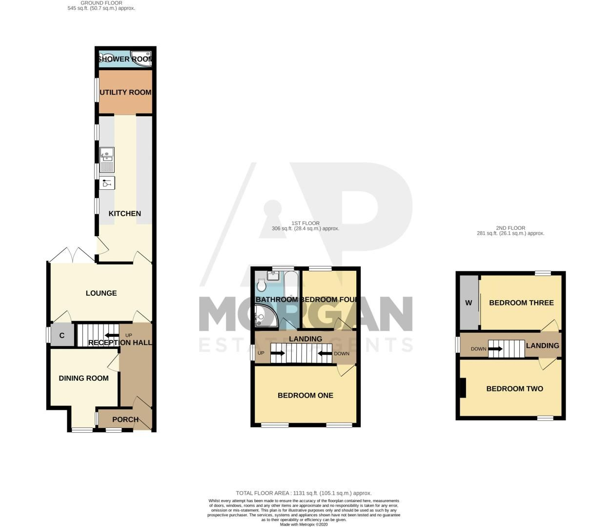 4 bed house for sale in Rectory Road - Property Floorplan