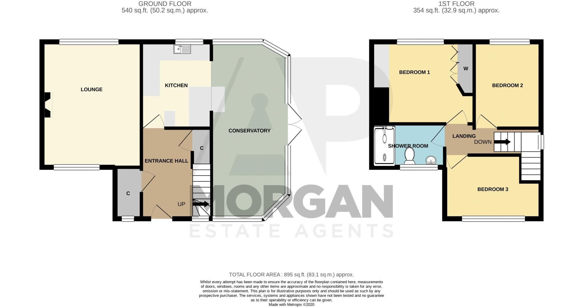 3 bed house for sale in Woodward Road - Property Floorplan