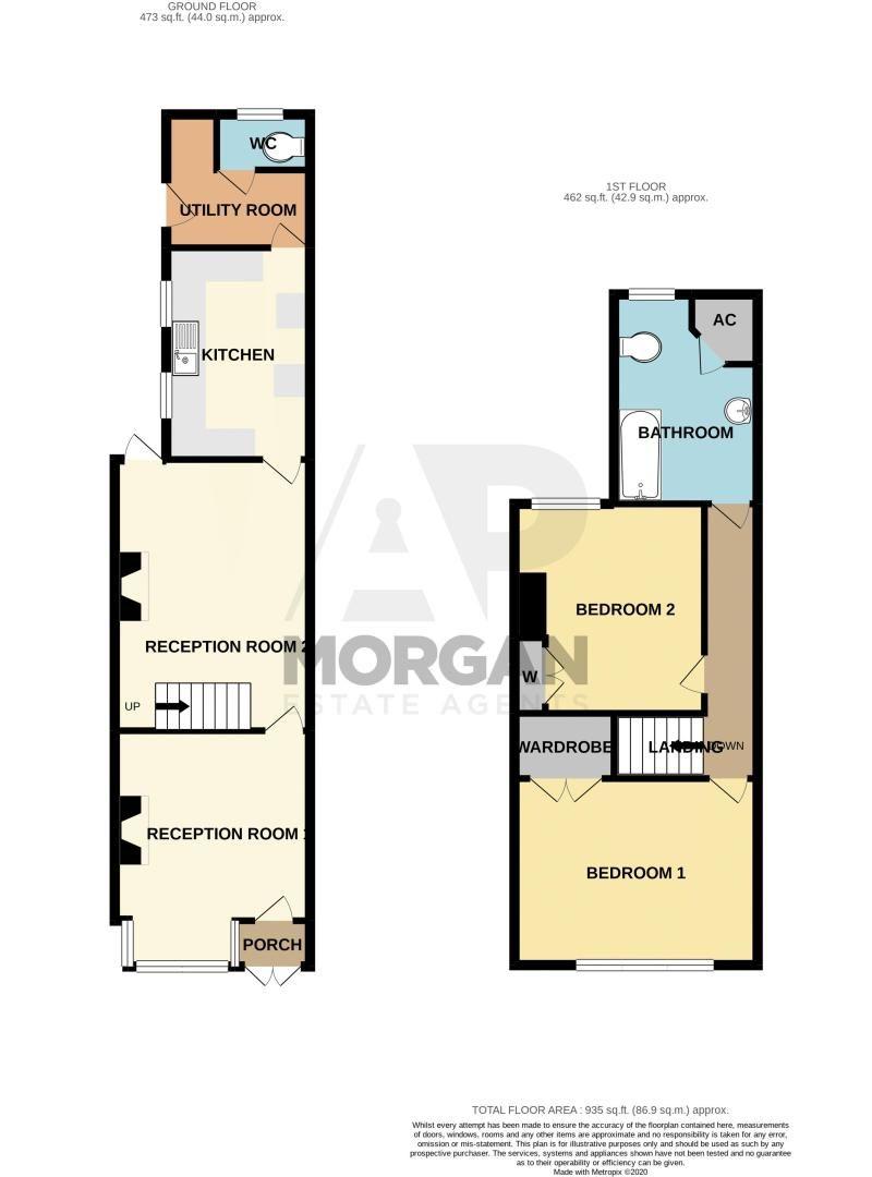2 bed house for sale in Coronation Terrace, Stoke Road - Property Floorplan