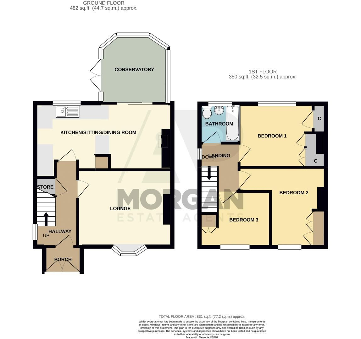 3 bed house for sale in Grove Road - Property Floorplan