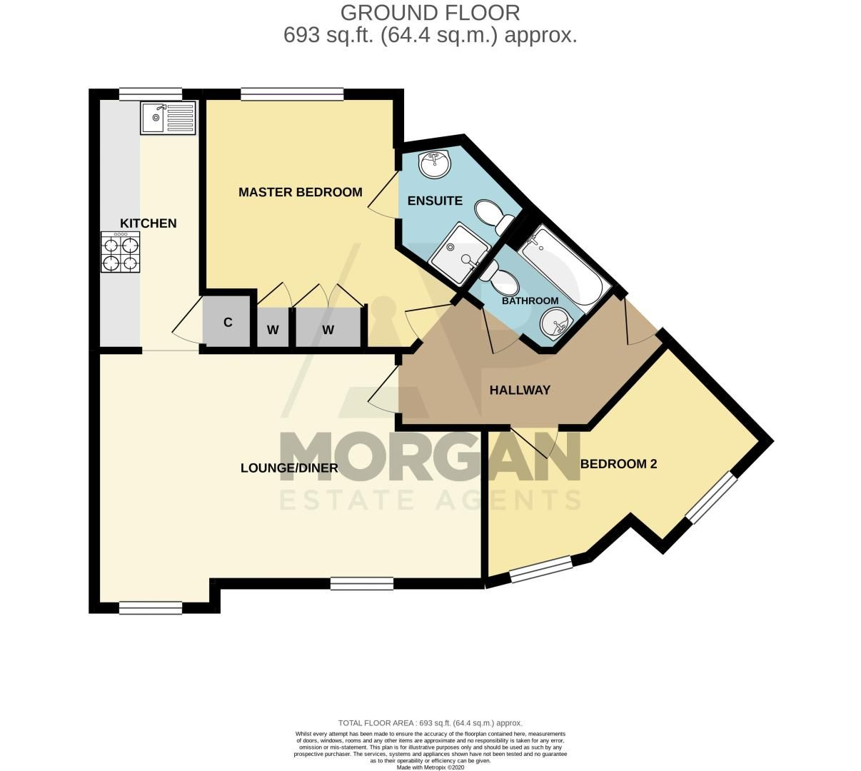 2 bed flat for sale in Newton Square - Property Floorplan