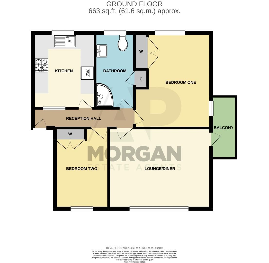 2 bed  for sale in Southcrest Road - Property Floorplan
