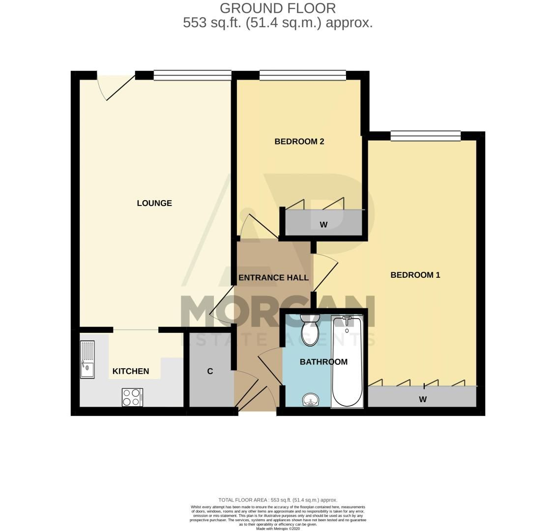 2 bed flat for sale in Blackberry Lane - Property Floorplan