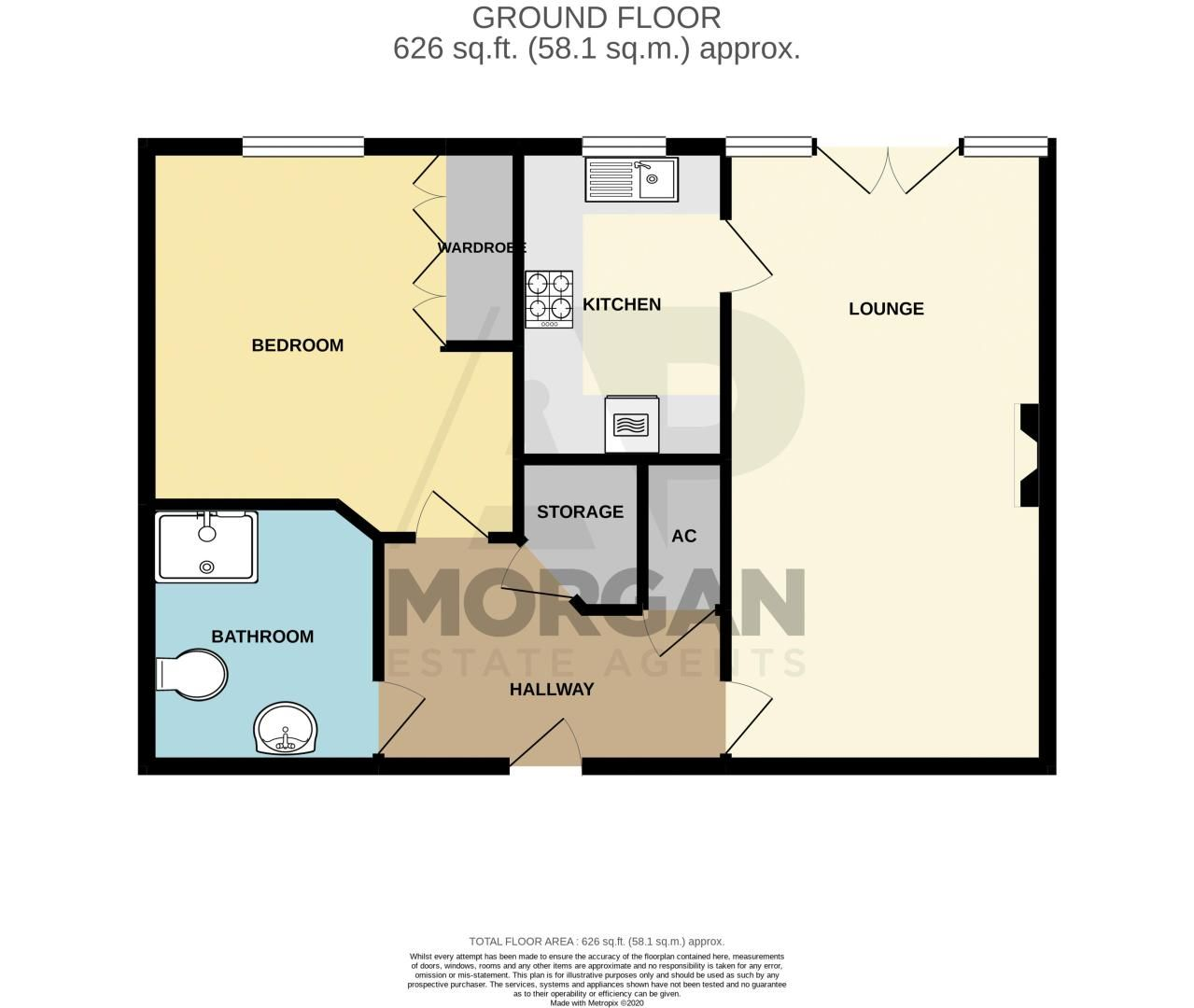 1 bed  for sale in Burcot Lane - Property Floorplan