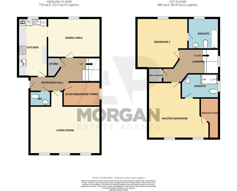 2 bed  for sale in Love Lane - Property Floorplan