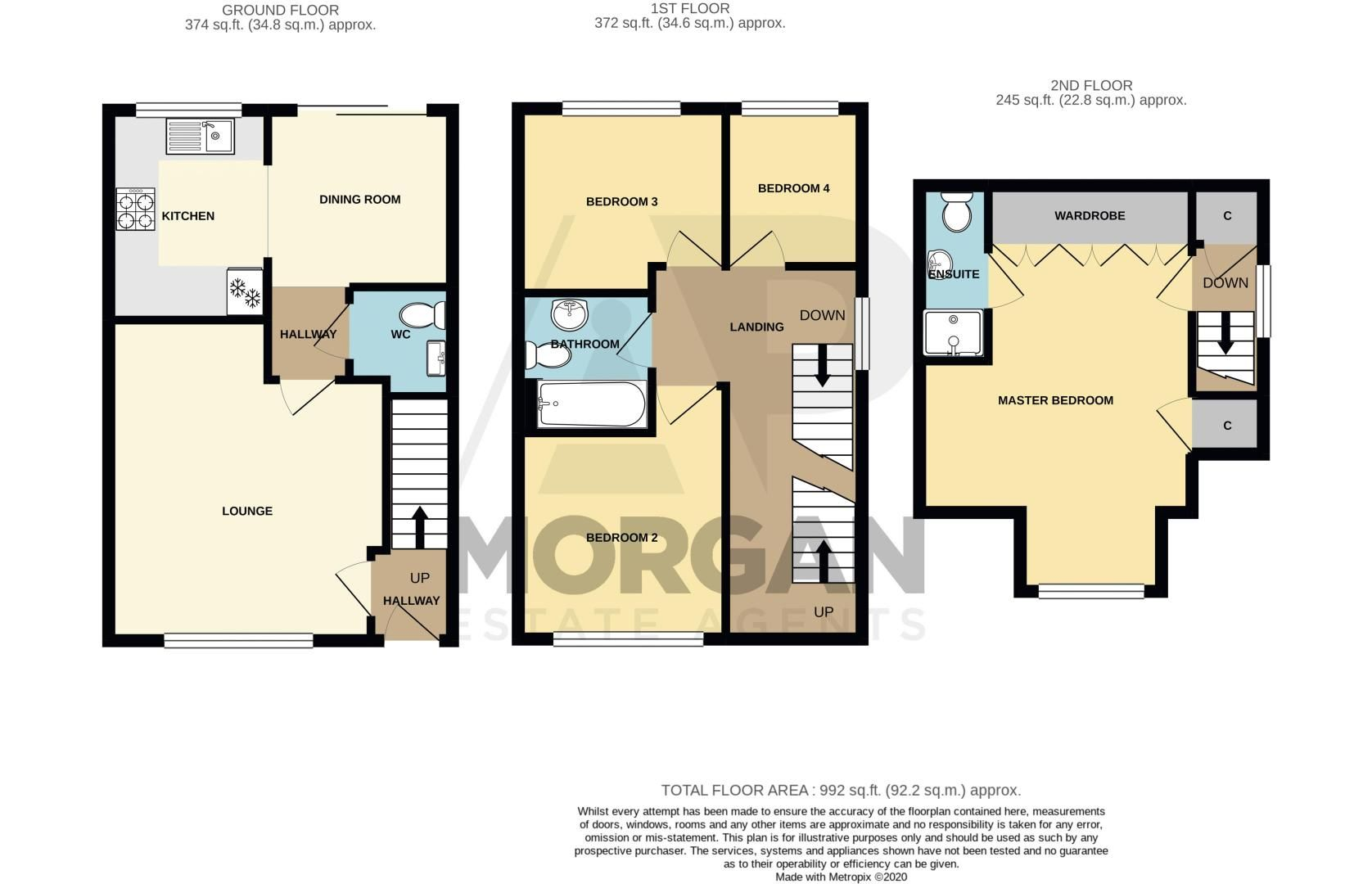 4 bed house for sale in Marlgrove Court - Property Floorplan