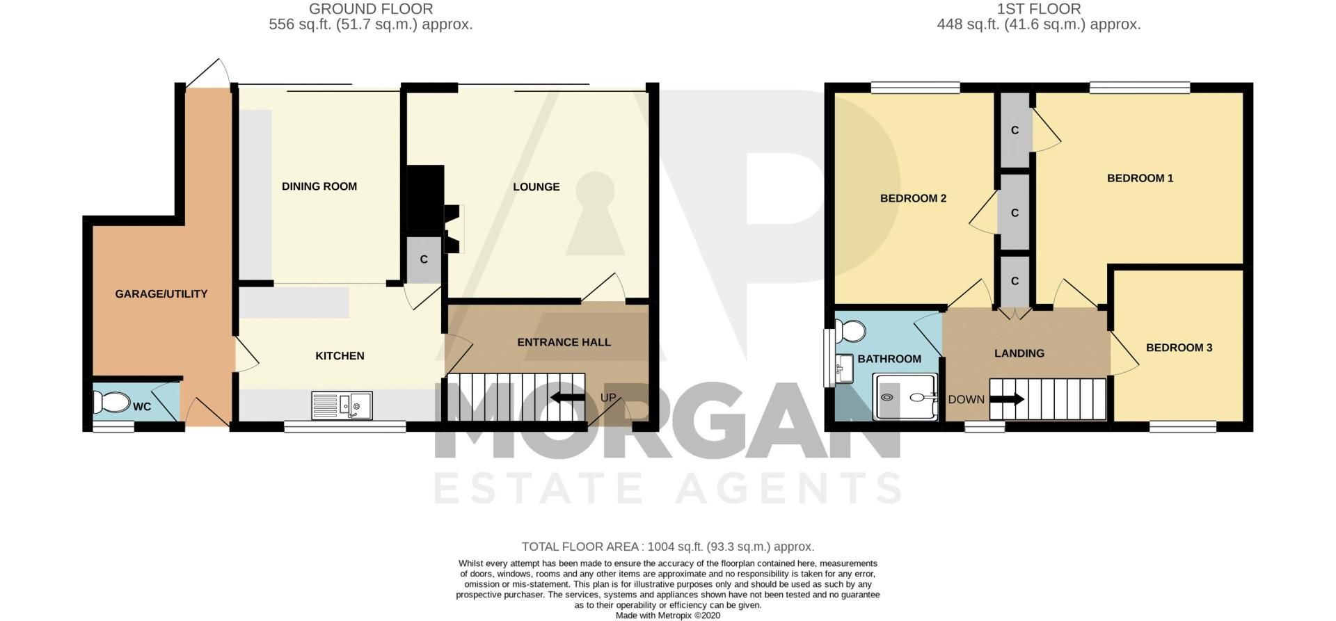 3 bed house for sale in Foxlydiate Crescent - Property Floorplan