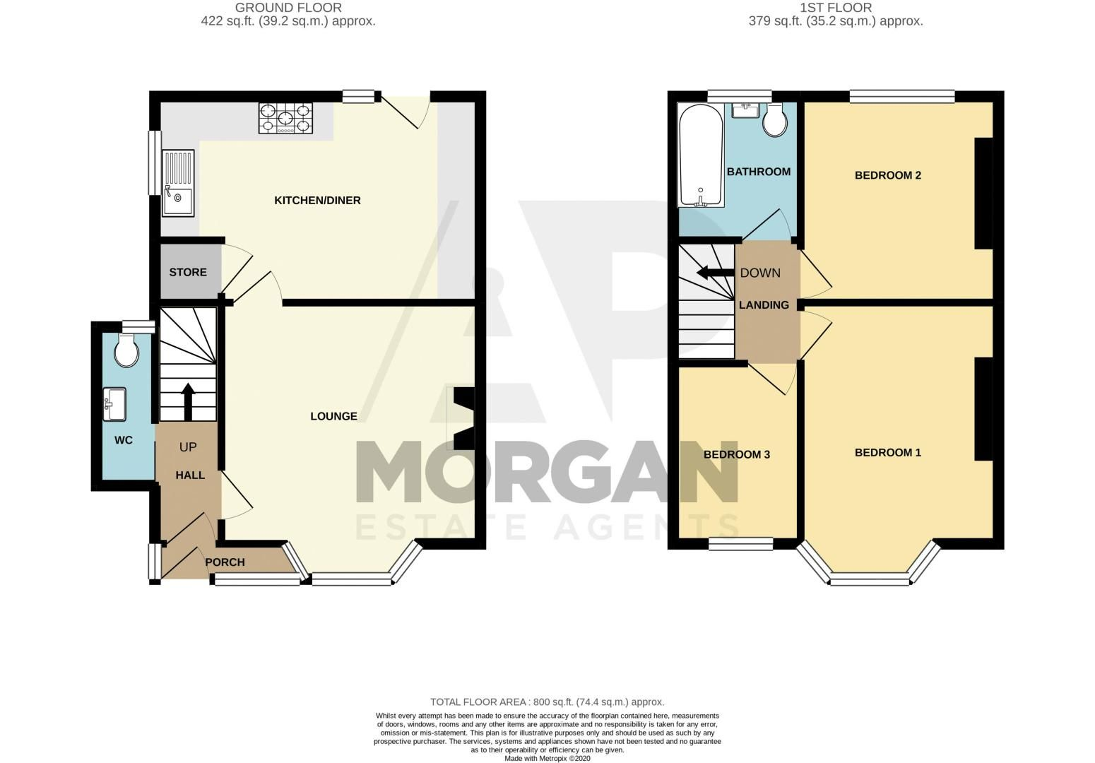 3 bed house for sale in Westbourne Road - Property Floorplan