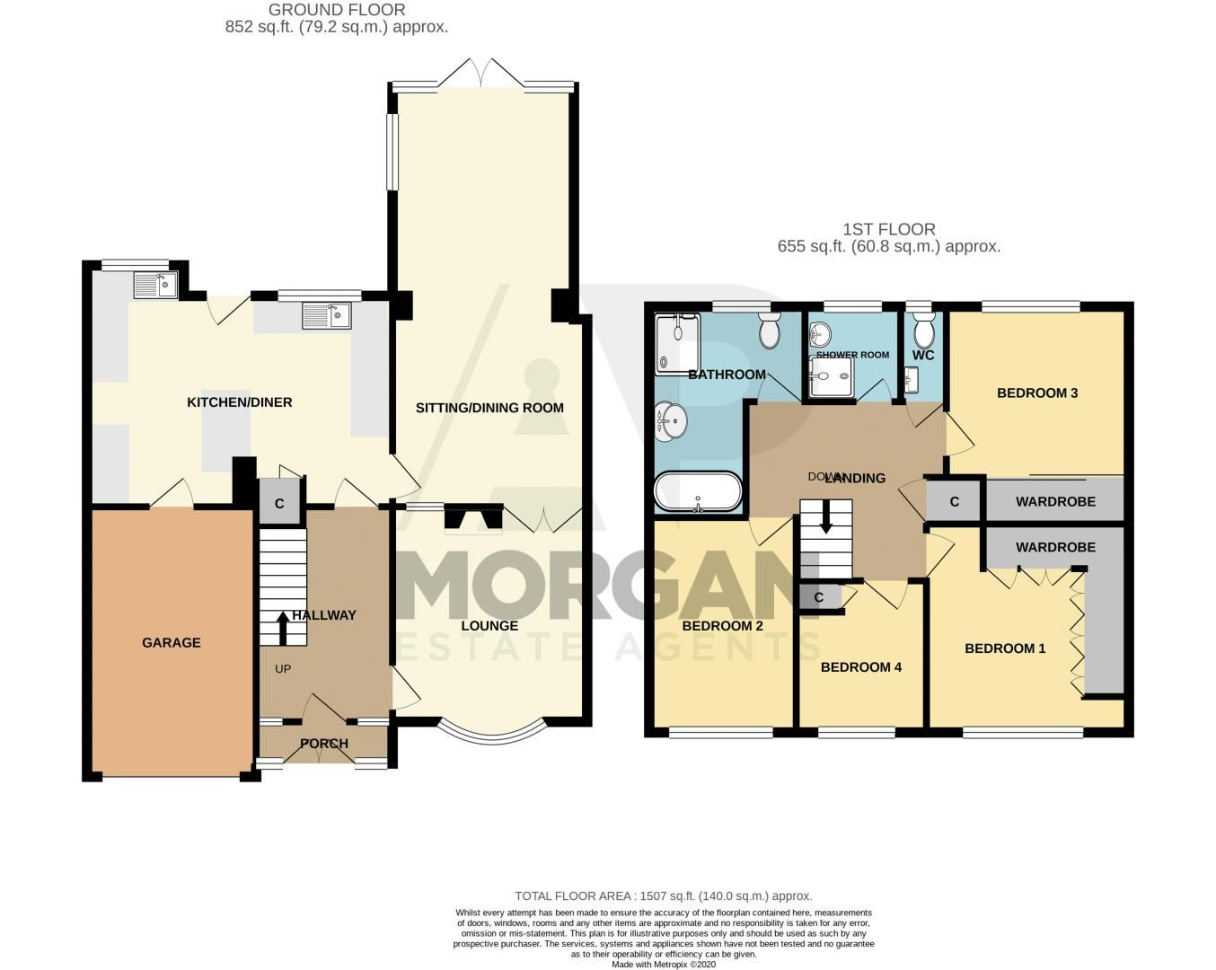 4 bed house for sale in Fordhouse Road - Property Floorplan