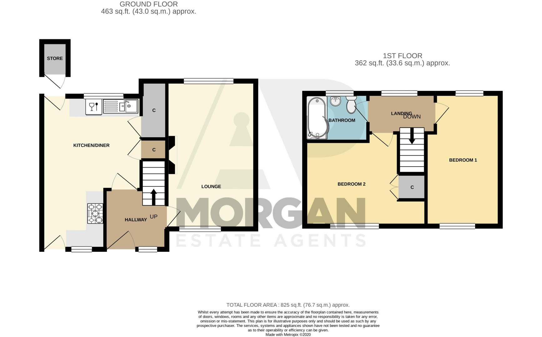 2 bed  for sale in Salwarpe Road - Property Floorplan