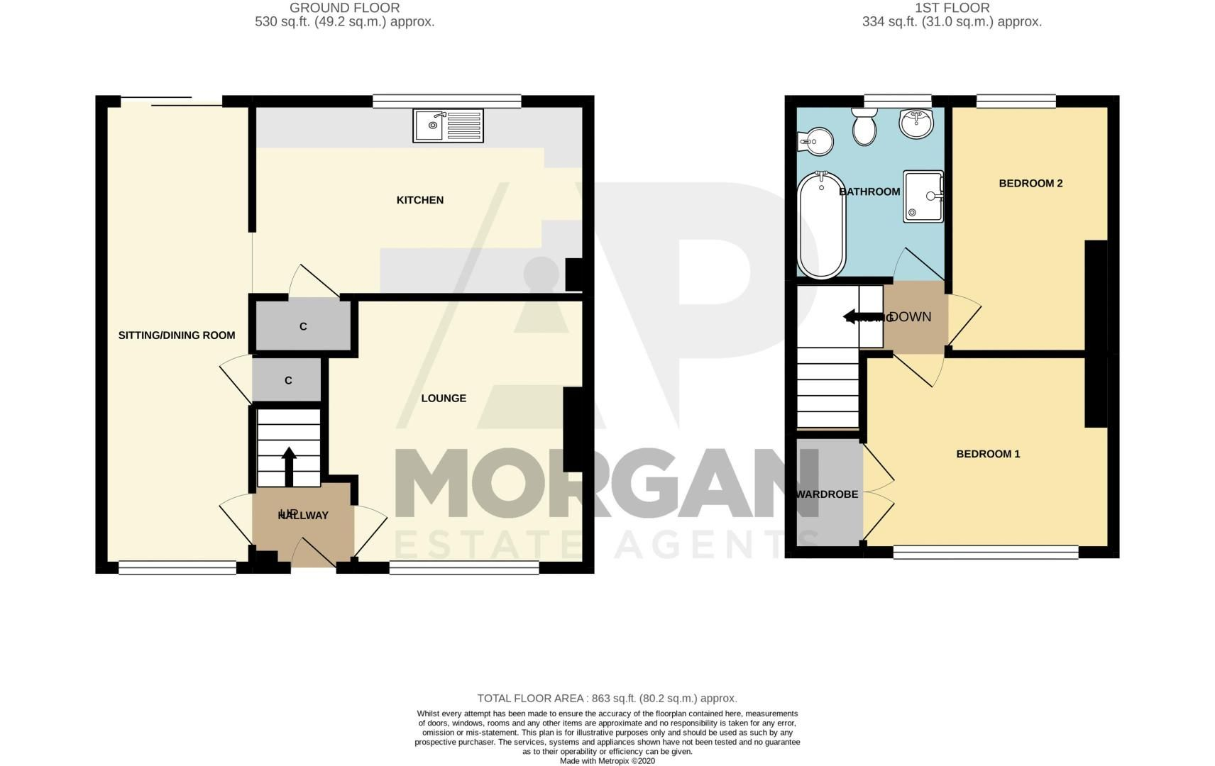 2 bed house for sale in Birmingham Road - Property Floorplan