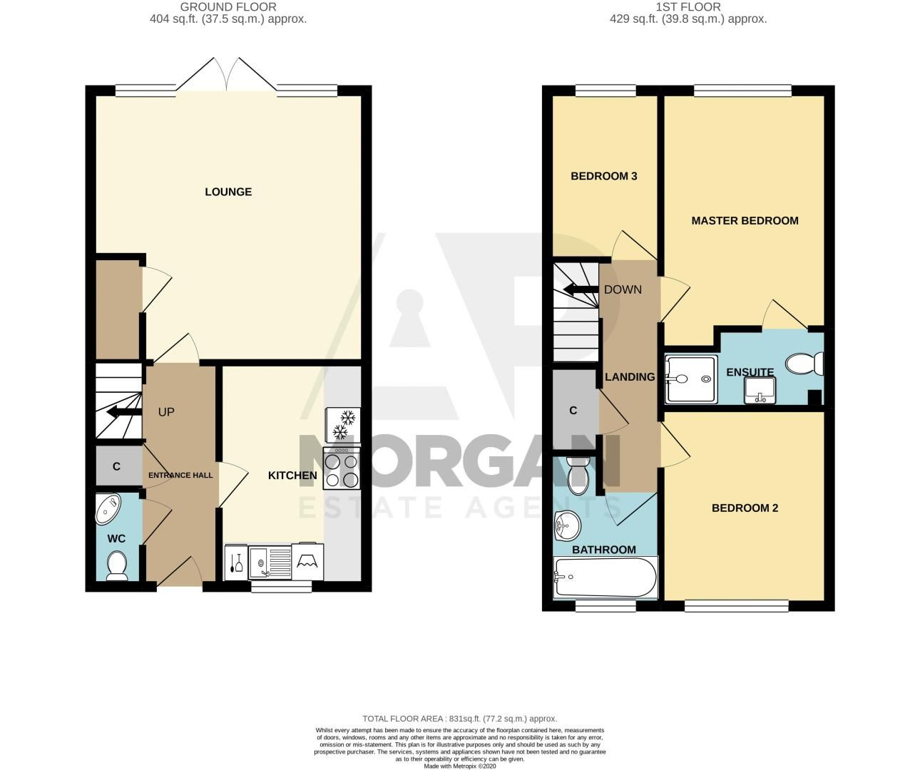 3 bed house for sale in Swallows Close - Property Floorplan