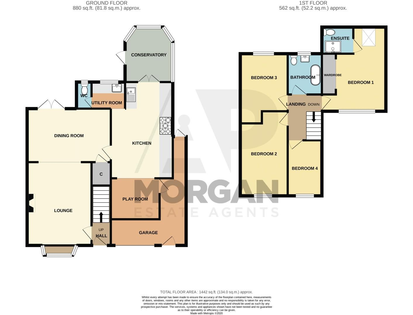 4 bed house for sale in Atcham Close - Property Floorplan