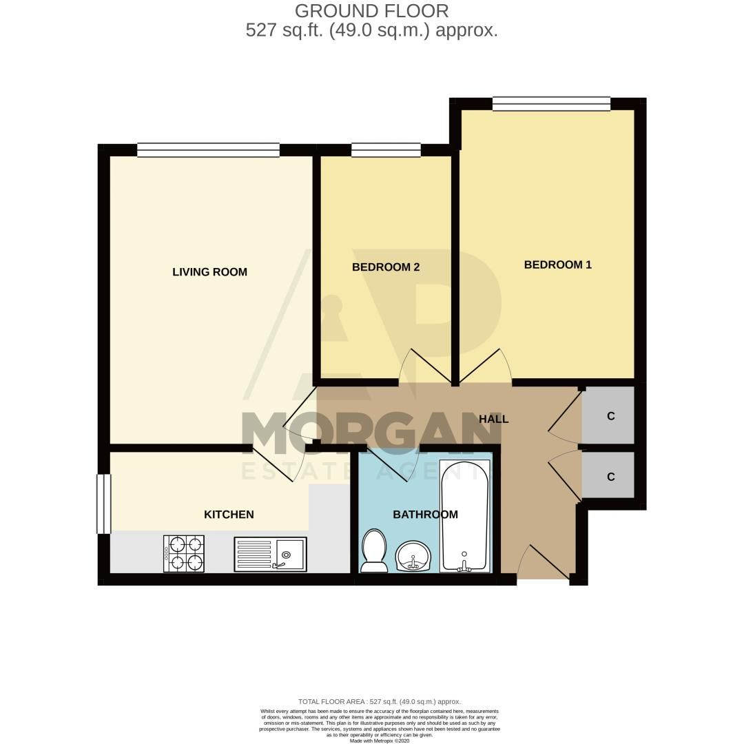 2 bed flat for sale in Minworth Close - Property Floorplan