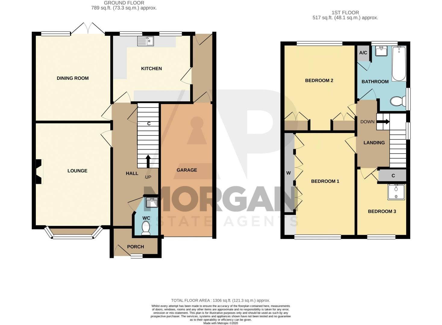 3 bed house for sale in Vicarage Crescent - Property Floorplan