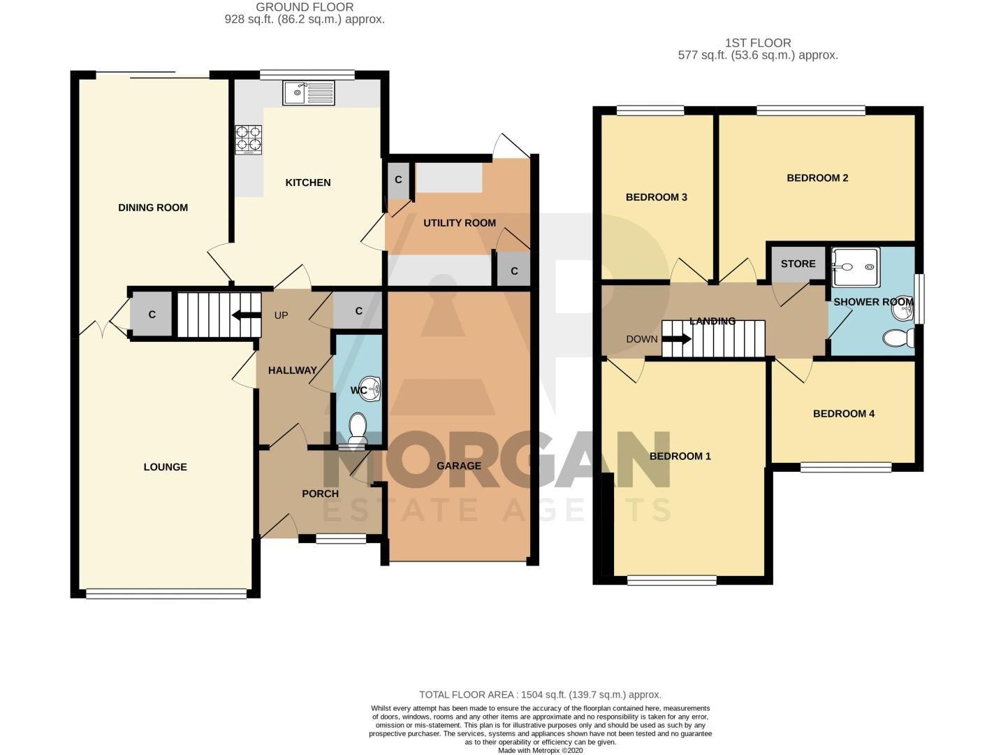 4 bed house for sale in Arundel Road - Property Floorplan