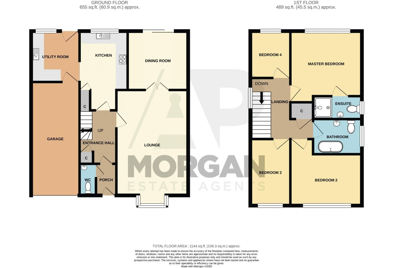 4 bed house for sale in Vestry Close - Property Floorplan