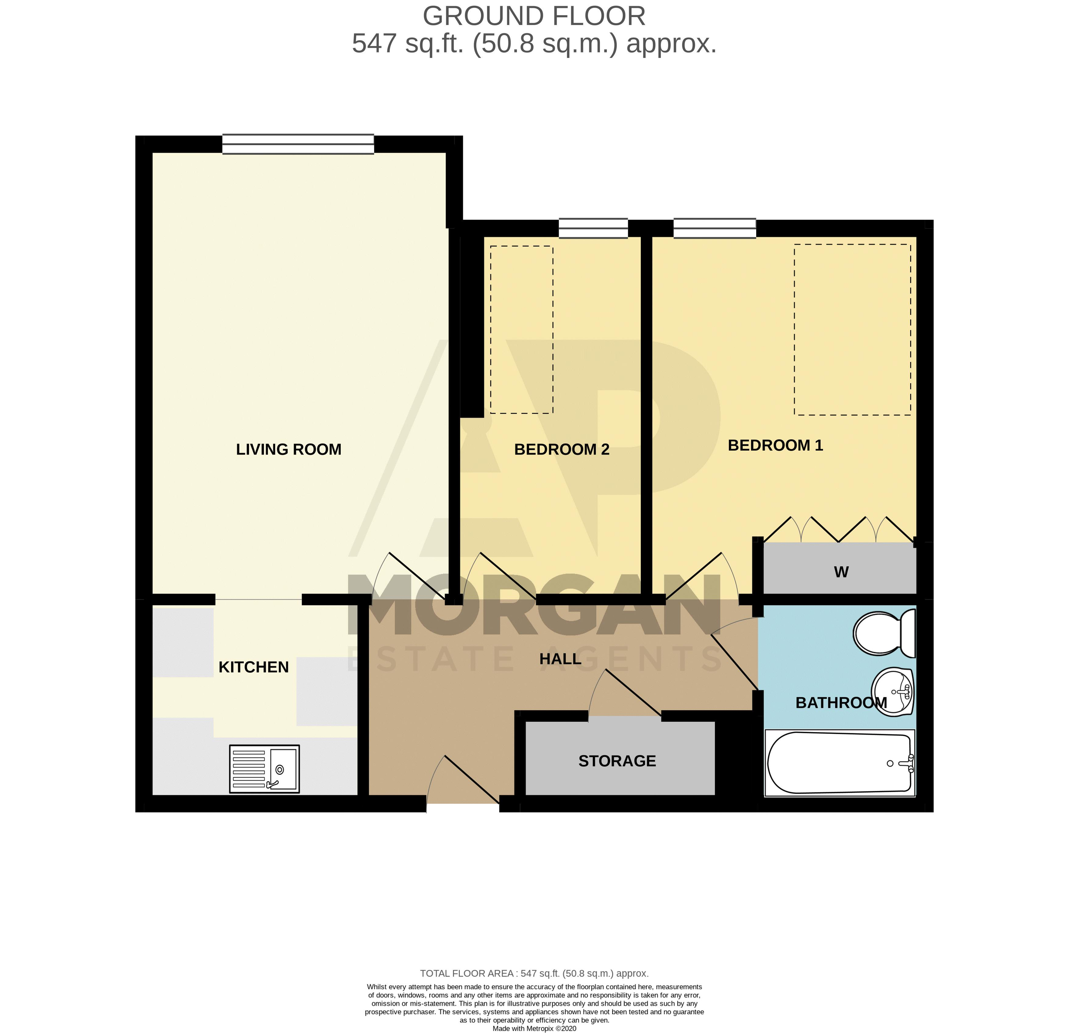 2 bed  for sale in Woodfield Road - Property Floorplan
