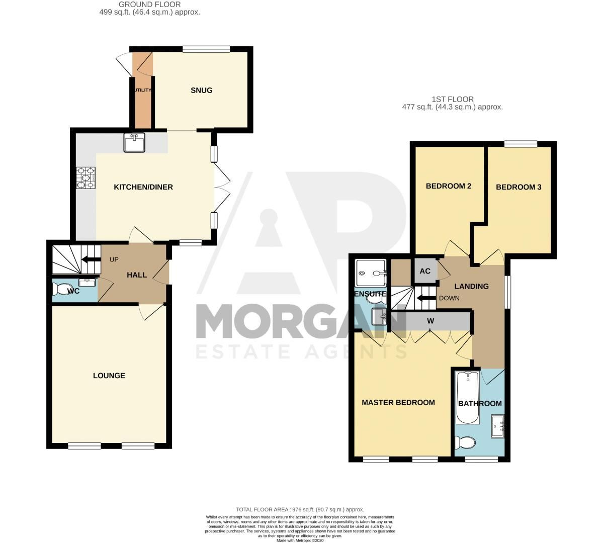 3 bed house for sale in Greyhound Lane - Property Floorplan