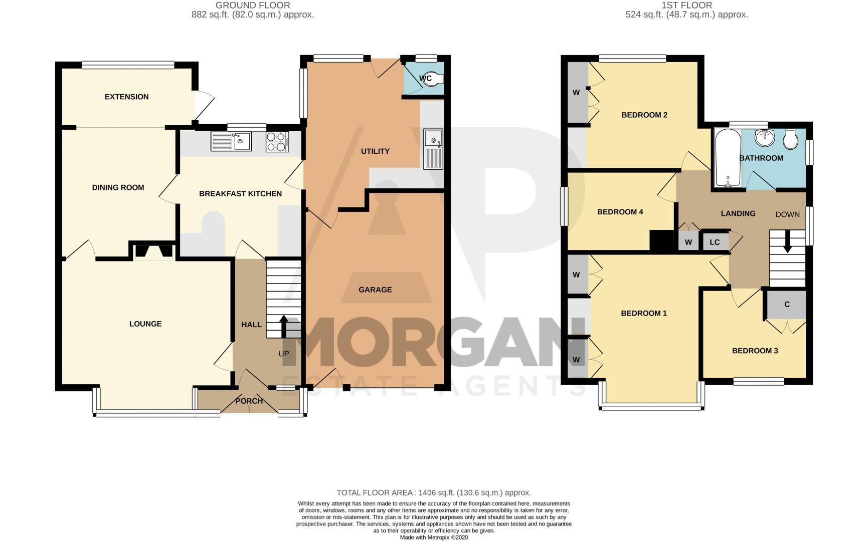 4 bed house for sale in Mason Road - Property Floorplan