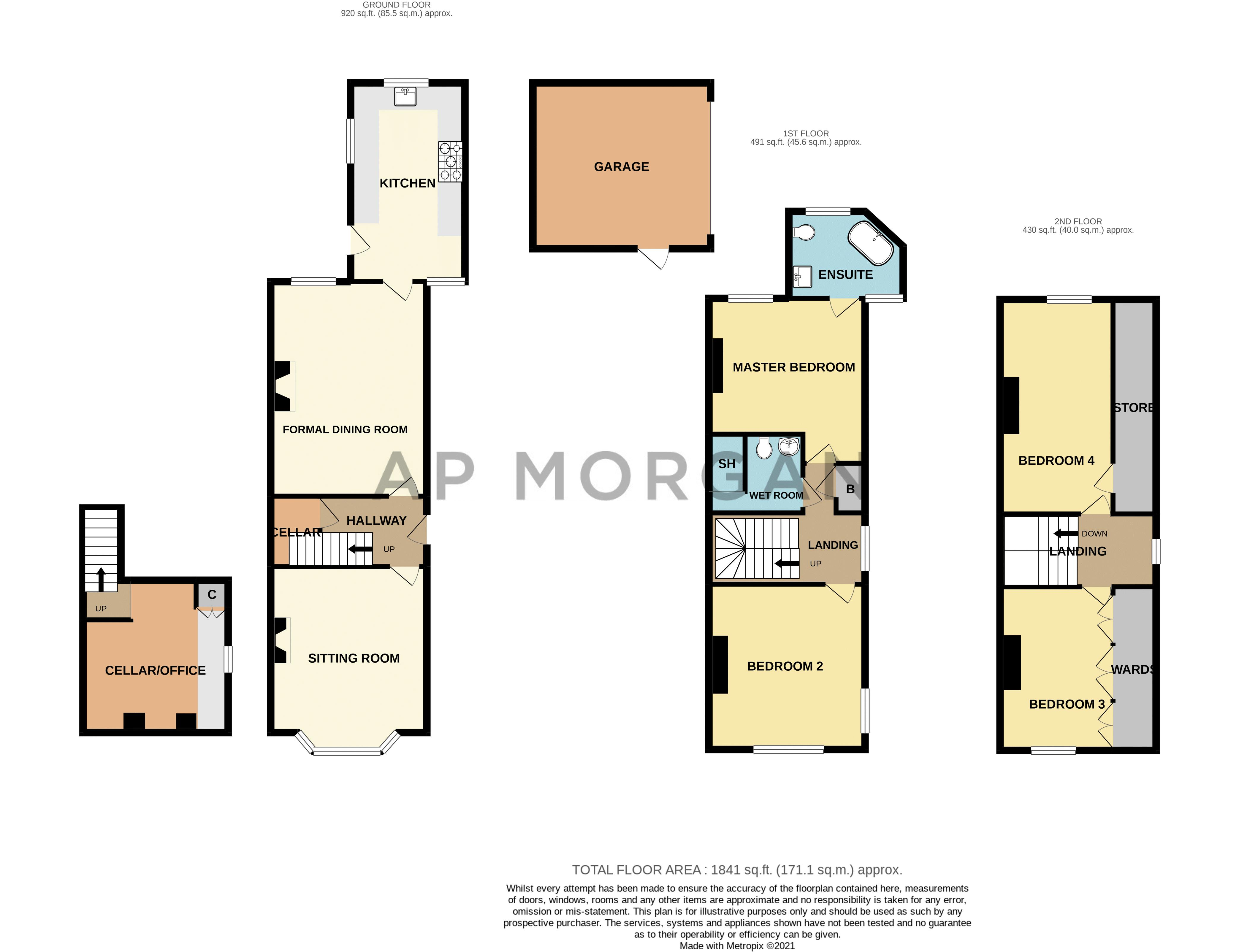 4 bed house for sale in Wood Street - Property Floorplan
