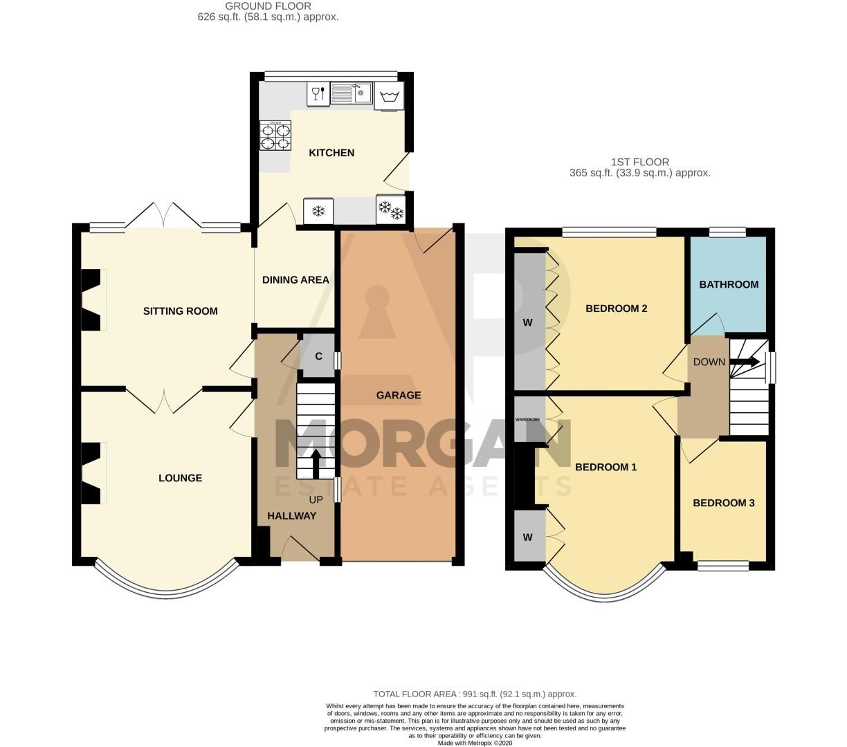 3 bed house for sale in Gilbanks Road - Property Floorplan