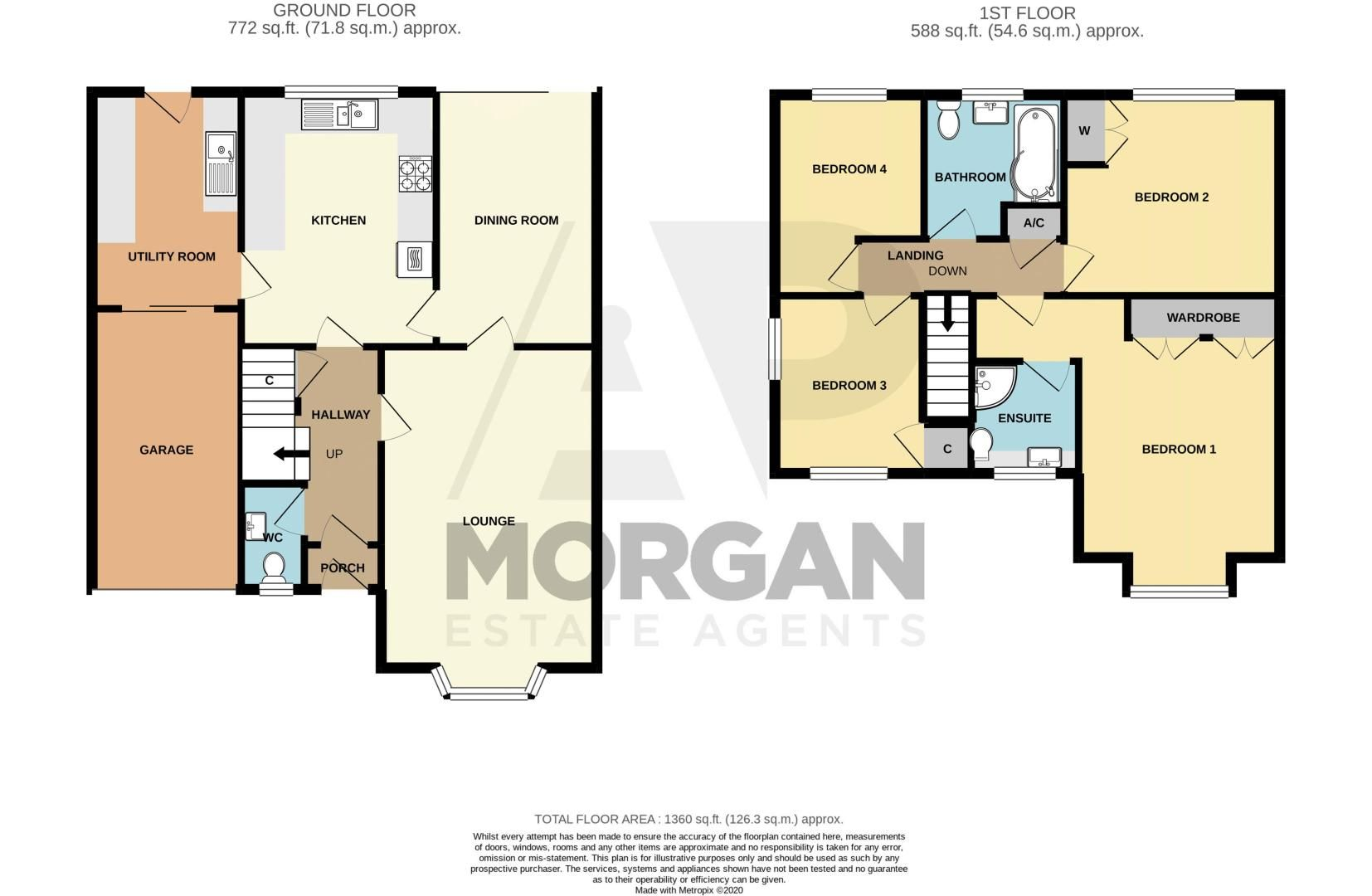 4 bed house for sale in Milford Close - Property Floorplan