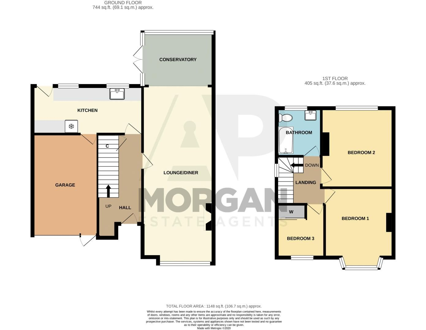 3 bed house for sale in Southwold Avenue - Property Floorplan